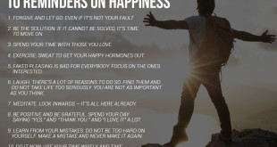 Happiness is a Choice… 10 Reminders On Happiness