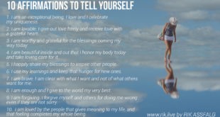 10 Affirmations for Self Love