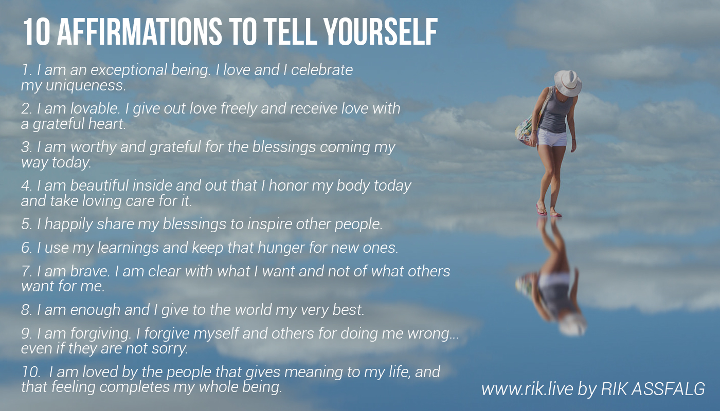 10 Affirmations for Self Love - Note That Down