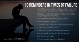 10 Reminders In times of Failures
